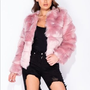 Jackets & Blazers - Pink Faux Fur Jacket
